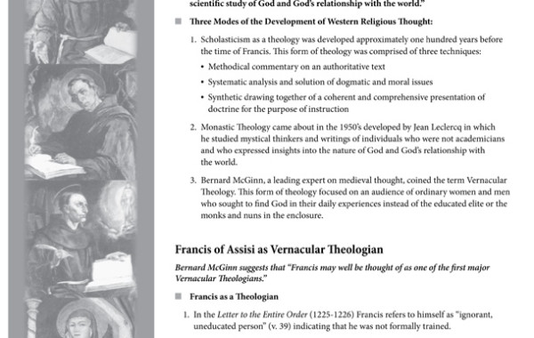 Francis as Vernacular Theologian: A link to the Franciscan Intellectual Tradition?