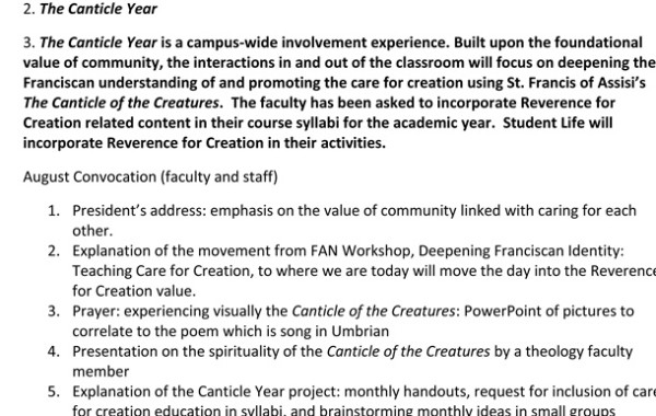 Canticle Year/Campus-wide Involvement Experience