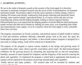 """Community Nutrition Program/""""Eating with Color from Your Garden"""""""