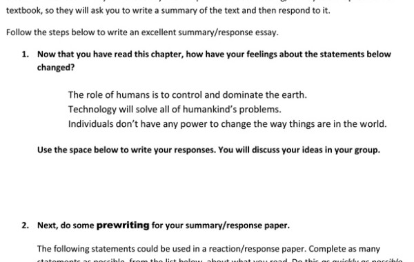Advanced Academic Writing/Summary-Reaction Essay